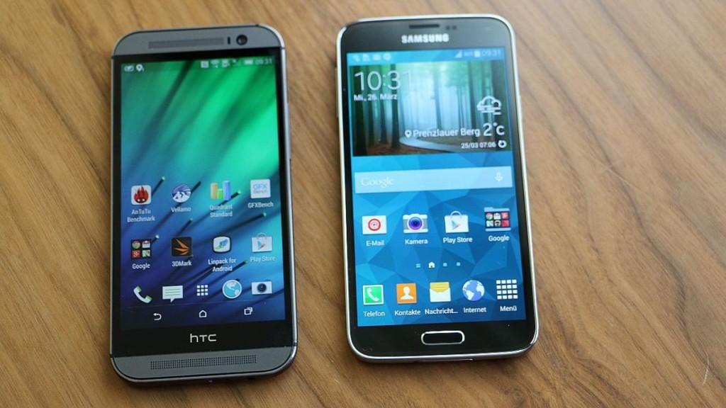 Сравнение Galaxy S5 и HTC One M8