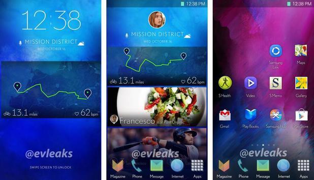 Интерфейс Samsung Galaxy S5